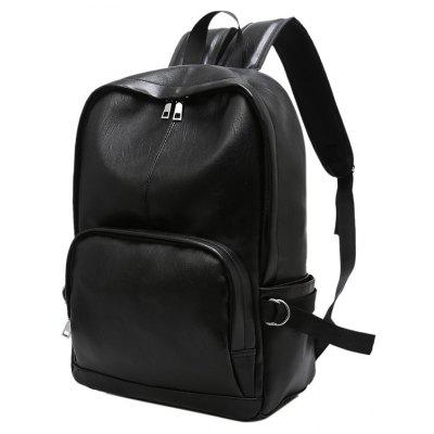 Simple Casual Fashion PU Leather Backpack Schoolbag for MenBackpacks<br>Simple Casual Fashion PU Leather Backpack Schoolbag for Men<br><br>Backpack Capacity: 21~40L<br>Features: Water Resistance, Foldable<br>For: Traveling, Adventure, Hiking, Camping, Cycling, Fishing, Climbing, Other<br>Material: PU Leather<br>Package Contents: 1 x Bag<br>Package size (L x W x H): 20.00 x 16.00 x 20.00 cm / 7.87 x 6.3 x 7.87 inches<br>Package weight: 0.7000 kg<br>Product size (L x W x H): 30.00 x 14.00 x 43.00 cm / 11.81 x 5.51 x 16.93 inches<br>Product weight: 0.6000 kg<br>Type: Backpack