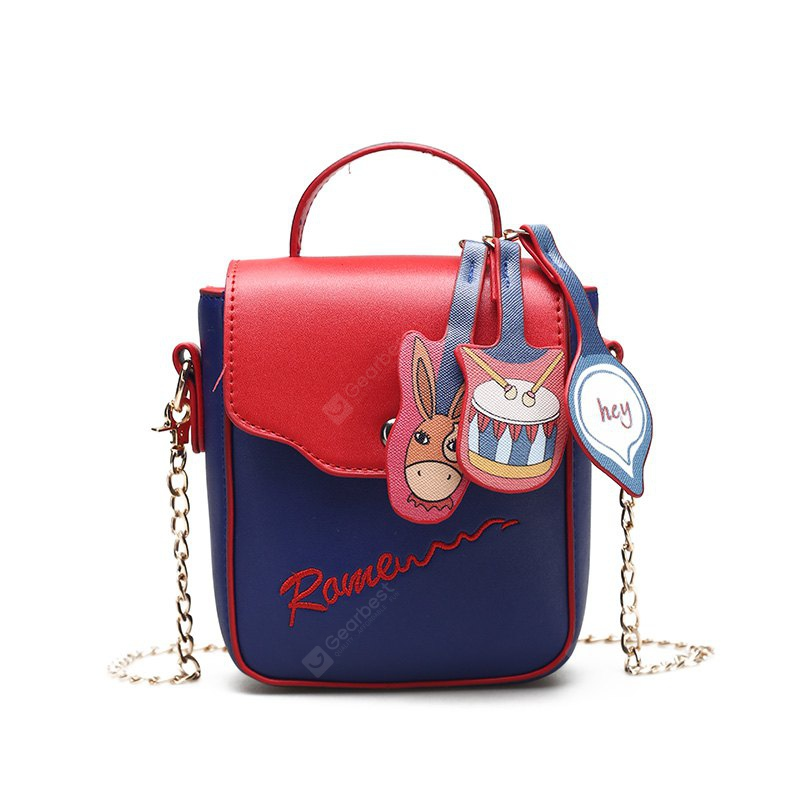 RED Simple Cartoon Contrasting Colors Phone Bag for Women