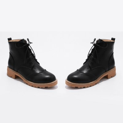 Womens Shoes Leatherette Combat Round Toe Low Heel Booties Ankle Boots Lace-upWomens Boots<br>Womens Shoes Leatherette Combat Round Toe Low Heel Booties Ankle Boots Lace-up<br><br>Boot Height: Ankle<br>Boot Tube Circumference: 33<br>Boot Tube Height: 10<br>Boot Type: Motorcycle Boots<br>Closure Type: Lace-Up<br>Embellishment: Flowers<br>Gender: For Women<br>Heel Height: 4<br>Heel Height Range: Low(0.75-1.5)<br>Heel Type: Low Heel<br>Insole Material: PU<br>Lining Material: PU<br>Outsole Material: Rubber<br>Package Contents: 1xShoes(pair)<br>Pattern Type: Floral<br>Platform Height: 1<br>Season: Winter<br>Shoe Width: Medium(B/M)<br>Toe Shape: Round Toe<br>Upper Material: PU<br>Weight: 1.9800kg