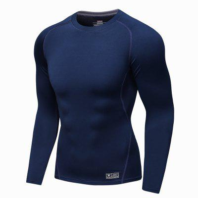 Men  Professional  Base Under Layer Gym Training Running Fitness Tops Perspiration Quick-Drying  Bottoming  Show Strong Muscle T-Shirt