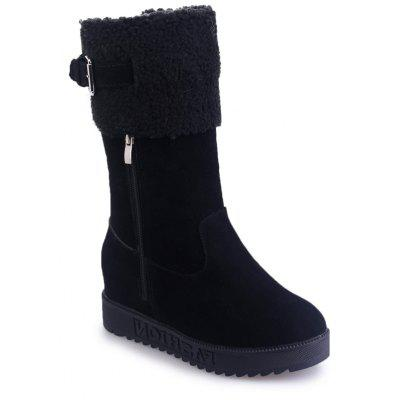 Buy BLACK 36 Winter New Suede High Tube Casual Fashion Boots for $23.99 in GearBest store