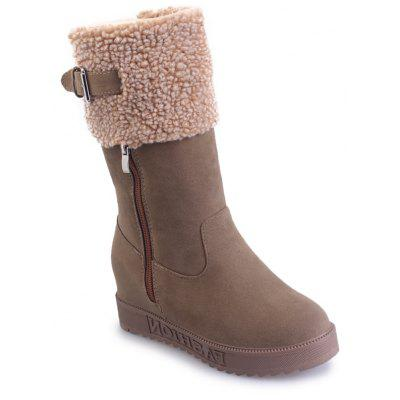 Buy KHAKI 35 Winter New Suede High Tube Casual Fashion Boots for $23.99 in GearBest store