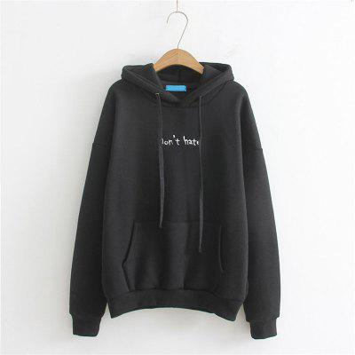 Ladys Letter Embroidered Cartoon Small HoodieSweatshirts &amp; Hoodies<br>Ladys Letter Embroidered Cartoon Small Hoodie<br><br>Closure Type: None<br>Collar: Hooded<br>Detachable Part: None<br>Elasticity: Elastic<br>Fabric Type: Cotton<br>Hooded: Yes<br>Material: Cotton<br>Package Contents: 1 x Hoodie<br>Pattern Style: Letter<br>Shirt Length: Regular<br>Sleeve Length: Full<br>Sleeve Style: Regular<br>Style: Fashion<br>Thickness: Standard,Thick<br>Weight: 0.3000kg