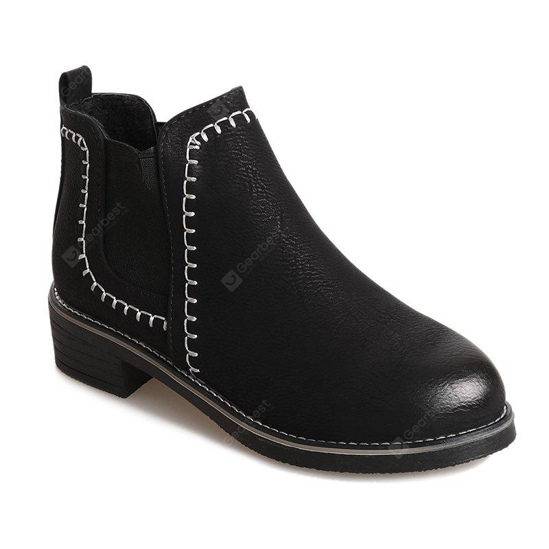 New Autumn and Winter Flat Head Round Color Wrist Boots