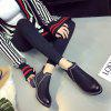 New Autumn and Winter Flat Head Round Color Wrist Boots - BLACK
