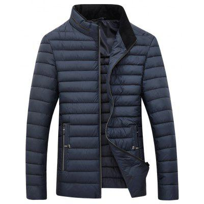 Buy ESTATE BLUE L Men's Long Sleeved Jacket Padded Zipper Collar for $55.25 in GearBest store