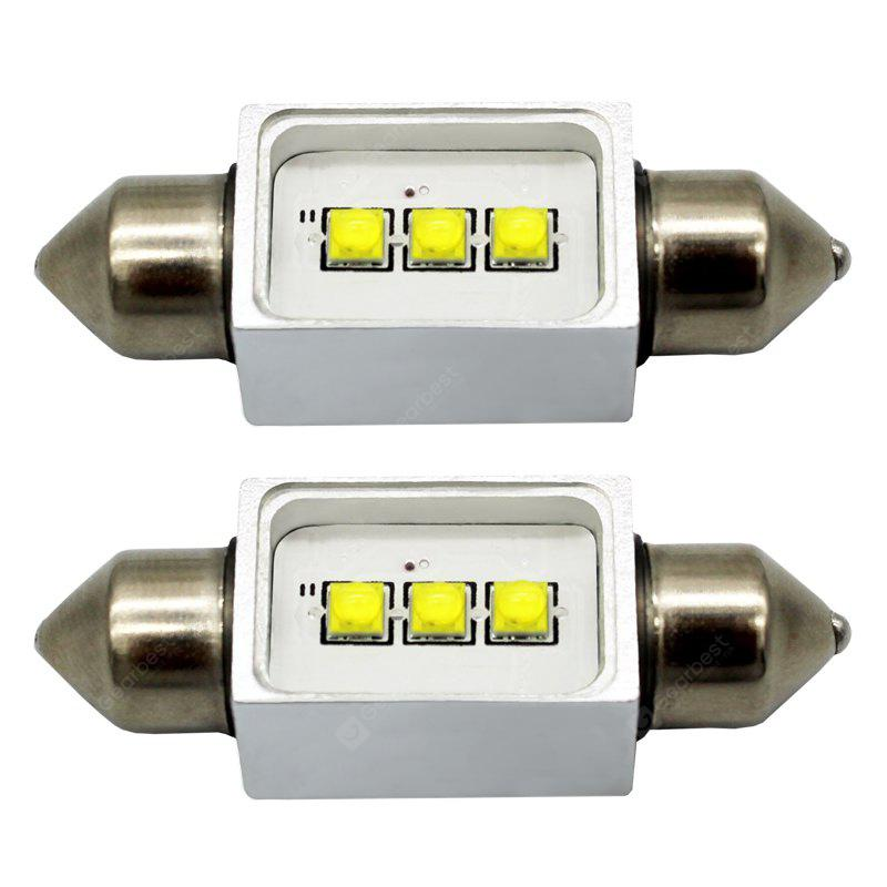 WHITE LIGHT 2PCS W5W / 36MM 9W LED Car Interior Reading Light