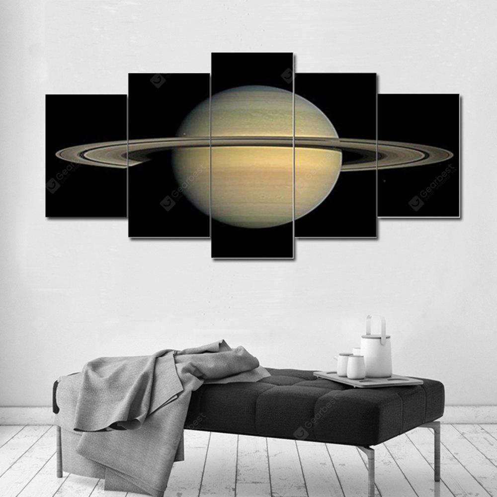 Modular Picture Saturn Painting Canvas 5PCS