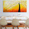 Money Tree Printed Unframed Canvas Print - COLORFUL
