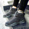 Running Couple High-Top Male Ankle Boots Anti-Slip Outdoor Breathable Sneakers Sports - DEEP GRAY