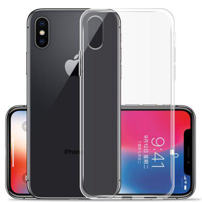 Transparent Slim Thin Soft TPU Cover Case for iPhone X