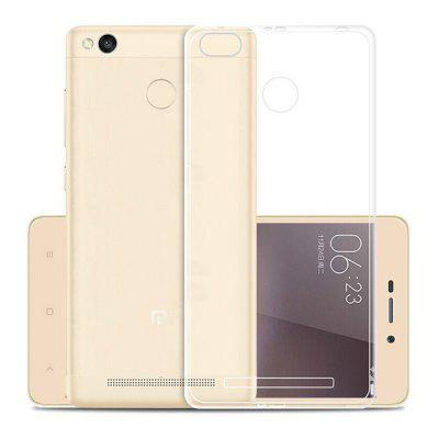 Transparent Soft TPU Slim Cover Case for Xiaomi Redmi 3s / 3 Pro