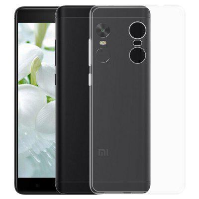 Clear Crystal Slim Soft TPU Cover Case para Xiaomi Redmi Nota 4X / Nota 4 Versão Global