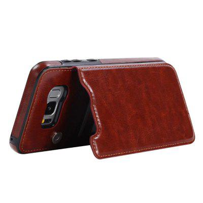 Card Holder with Stand Back Cover Solid Color Hard PU Leather Case for Samsung Galaxy S8 PlusSamsung S Series<br>Card Holder with Stand Back Cover Solid Color Hard PU Leather Case for Samsung Galaxy S8 Plus<br><br>Color: Black,White,Red,Brown,Dark blue,Rose Madder<br>Compatible with: Samsung Galaxy S8 Plus<br>Features: Back Cover, Cases with Stand, With Credit Card Holder<br>For: Samsung Mobile Phone<br>Material: TPU, PU Leather<br>Package Contents: 1 x Phone Case<br>Package size (L x W x H): 20.00 x 10.50 x 1.50 cm / 7.87 x 4.13 x 0.59 inches<br>Package weight: 0.0610 kg<br>Style: Vintage, Solid Color