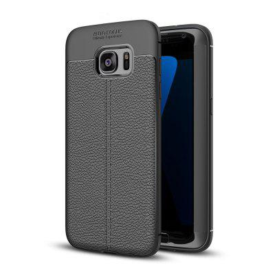 Estojo para Samsung Galaxy S7 Edge Shockproof Back Cover Solid Color Soft TPU