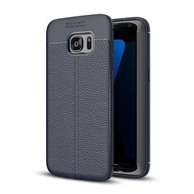 Buy DEEP BLUE Case for Samsung Galaxy S7 Edge Shockproof Back Cover Solid Color Soft TPU for $4.34 in GearBest store