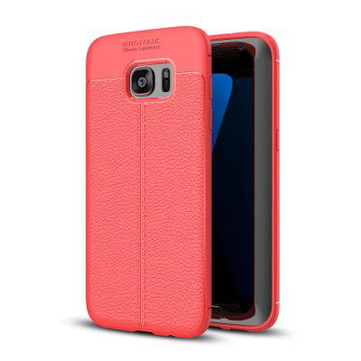 Buy RED Case for Samsung Galaxy S7 Edge Shockproof Back Cover Solid Color Soft TPU for $4.34 in GearBest store