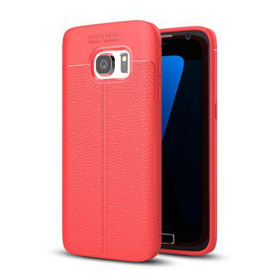 Buy RED Case for Samsung Galaxy S7 Shockproof Back Cover Solid Color Soft TPU for $4.17 in GearBest store