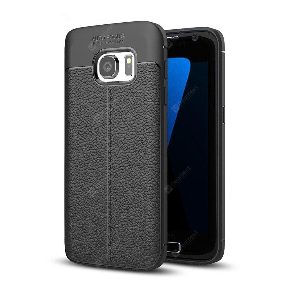 BLACK Case for Samsung Galaxy S7 Shockproof Back Cover Solid Color Soft TPU