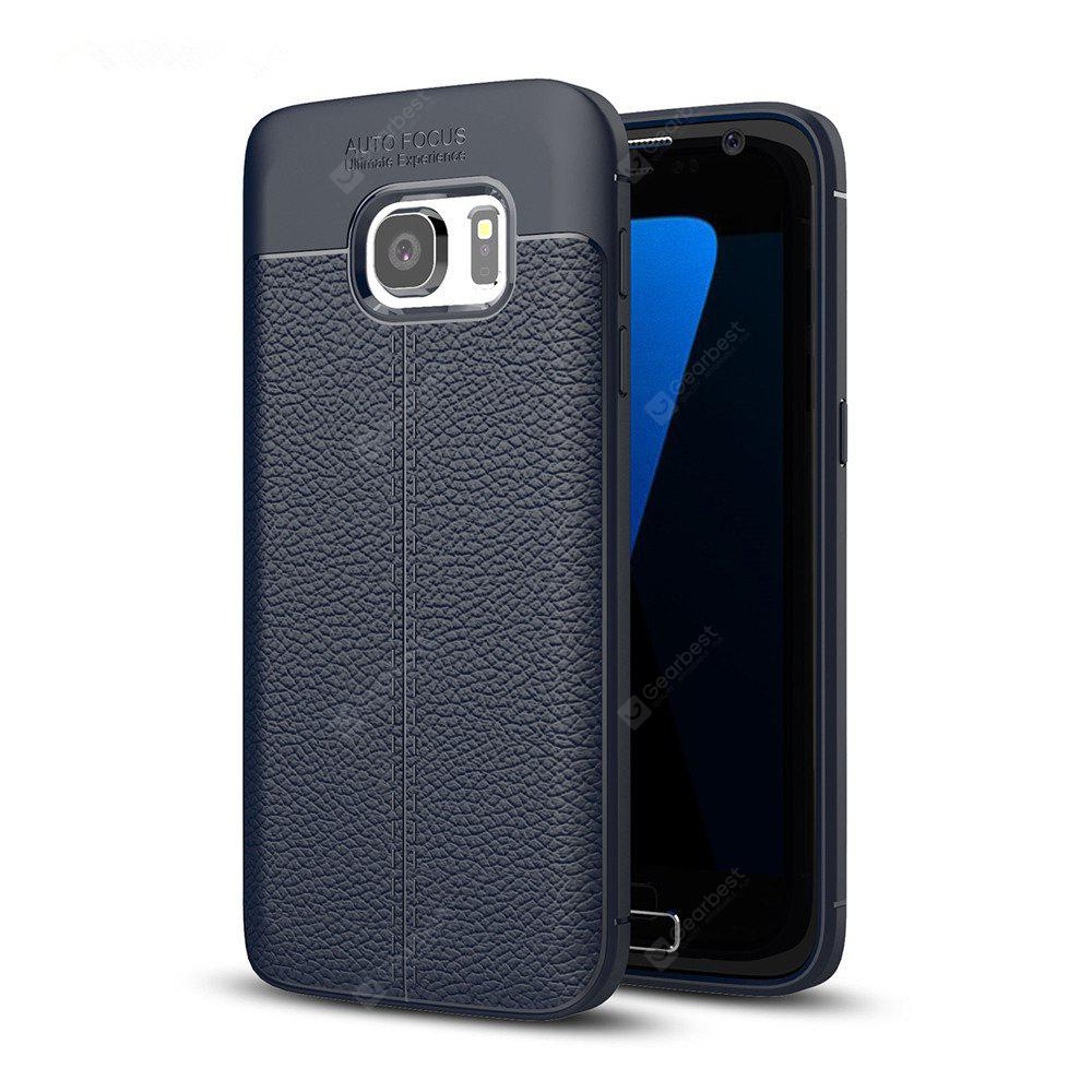 DEEP BLUE Case for Samsung Galaxy S7 Shockproof Back Cover Solid Color Soft TPU
