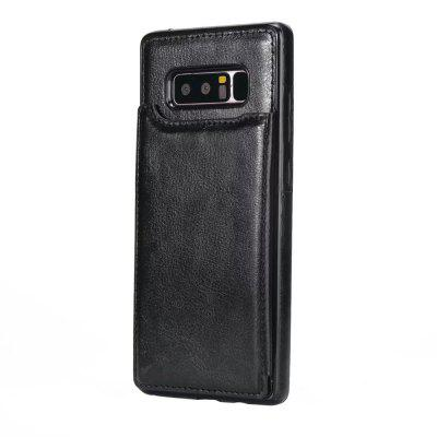 Buy BLACK Case for Samsung Galaxy Note 8 Card Holder with Stand Back Cover Solid Color Hard PU Leather for $6.31 in GearBest store