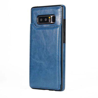 Buy DEEP BLUE Case for Samsung Galaxy Note 8 Card Holder with Stand Back Cover Solid Color Hard PU Leather for $6.31 in GearBest store