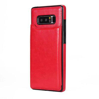 Buy RED Case for Samsung Galaxy Note 8 Card Holder with Stand Back Cover Solid Color Hard PU Leather for $6.31 in GearBest store