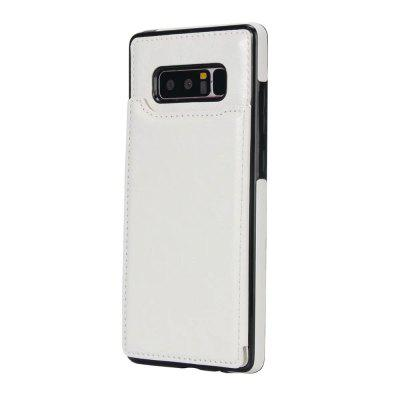 Buy WHITE Case for Samsung Galaxy Note 8 Card Holder with Stand Back Cover Solid Color Hard PU Leather for $6.31 in GearBest store