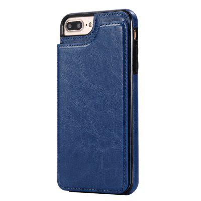 Buy DEEP BLUE Case for iPhone 8 Plus / 7 Plus Card Holder with Stand Back Cover Solid Color Hard PU Leather for $5.70 in GearBest store
