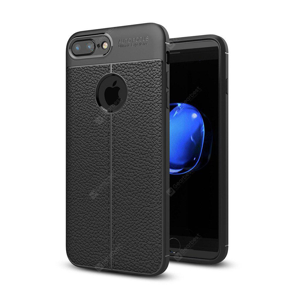 Shockproof Back Cover Solid Color Soft TPU Case for iPhone 7 Plus / 8 Plus
