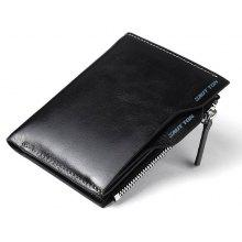 HAUT TON Genuine Leather Bifold and Trifold Wallets for Men Removable Flipout Card Holder