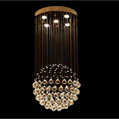 Simple Round Crystal Chandelier for Living Room Bedroom