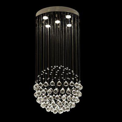 Simple Round Crystal Chandelier for Living Room BedroomPendant Light<br>Simple Round Crystal Chandelier for Living Room Bedroom<br><br>Battery Included: Non-preloaded<br>Bulb Base: GU10<br>Bulb Included: Yes<br>Bulb Type: LED<br>Chain / Cord Adjustable or Not: Chain / Cord Not Adjustable<br>Chain / Cord Length ( CM ): 10<br>Color Temperature or Wavelength: 6000k<br>Decoration Material: Crystal<br>Dimmable: No<br>Features: Crystal, Eye Protection, Bulb Included<br>Finish: Electroplating,Paint,Stainless Steel<br>Fixture Height ( CM ): 80<br>Fixture Length ( CM ): 50<br>Fixture Material: Crystal,Metal<br>Fixture Width ( CM ): 50<br>Light Direction: Downlight<br>Light Source Color: Cold White<br>lumen: 1000LM<br>Number of Bulb: 5 Bulbs<br>Number of Bulb Sockets: 5<br>Number of Tiers: &gt; Five<br>Package Contents: 1 x Chandelier<br>Package size (L x W x H): 57.00 x 57.00 x 13.00 cm / 22.44 x 22.44 x 5.12 inches<br>Package weight: 7.0000 kg<br>Product weight: 6.0000 kg<br>Remote Control Supported: No<br>Shade Material: Crystal<br>Stepless Dimming: No<br>Style: Chic &amp; Modern, Globe, LED, Modern/Contemporary, Artistic Style, Simple Style<br>Suggested Room Size: 10 - 15?<br>Suggested Space Fit: Bedroom,Boys Room,Cafes,Dining Room,Game Room,Girls Room,Hallway,Indoors,Kids Room,Living Room,Office,Study Room<br>Type: Chandeliers<br>Voltage ( V ): 220V - 240V<br>Wattage (W): &gt;20<br>Wattage per Bulb ( W ): 3