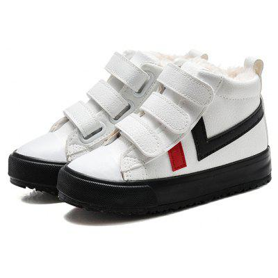 Male and Female Children Winter High Students with Super Fiber Help Leisure Shoes