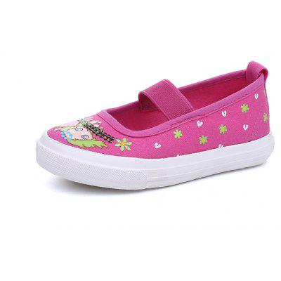 The New Female Baby Dance Shoes Canvas Shallow Mouth Ventilation