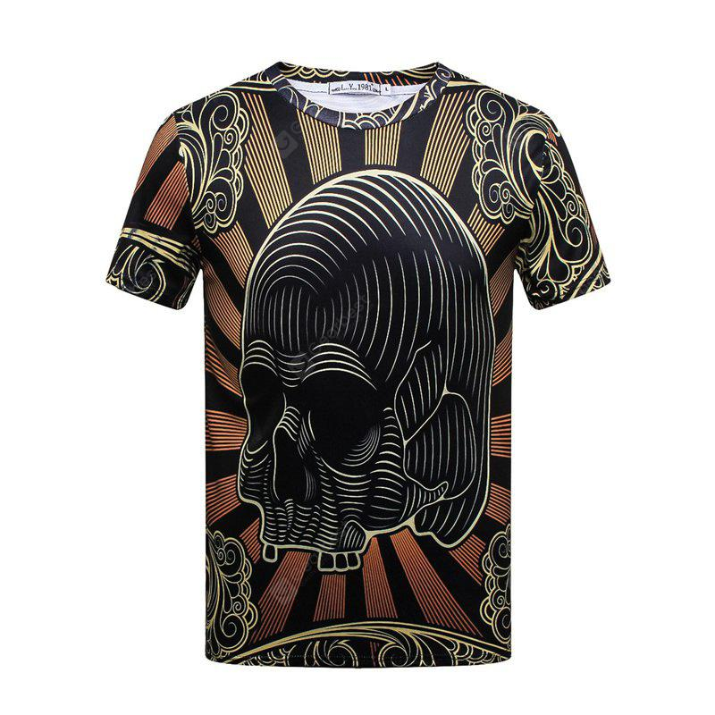 High Quality Palace Style Digital Printed Short-sleeved T-shirt