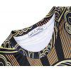 High Quality Palace Style Digital Printed Short-sleeved T-shirt - BROWN