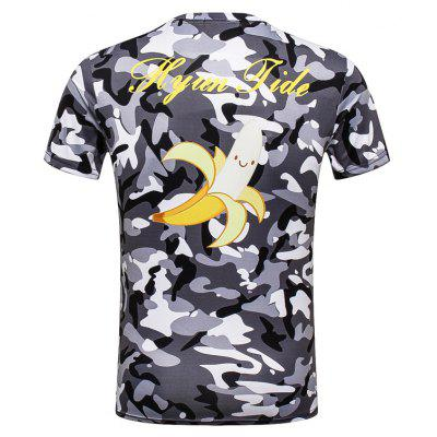 Mens Camouflage Short-sleeved T-shirtMens T-shirts<br>Mens Camouflage Short-sleeved T-shirt<br><br>Collar: Round Neck<br>Material: Polyester<br>Package Contents: 1 x T-shirt<br>Pattern Type: Print<br>Sleeve Length: Half<br>Style: Fashion<br>Weight: 0.2000kg