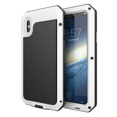 Buy WHITE Luxury Armor Durable Shock Waterproof Metal Aluminum Phone Case for iPhone X for $11.89 in GearBest store