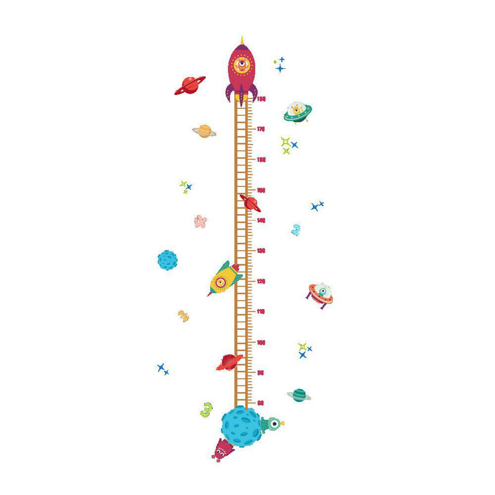 Cartoon Planet Pattern Height Sticker For Kids Room Decoration