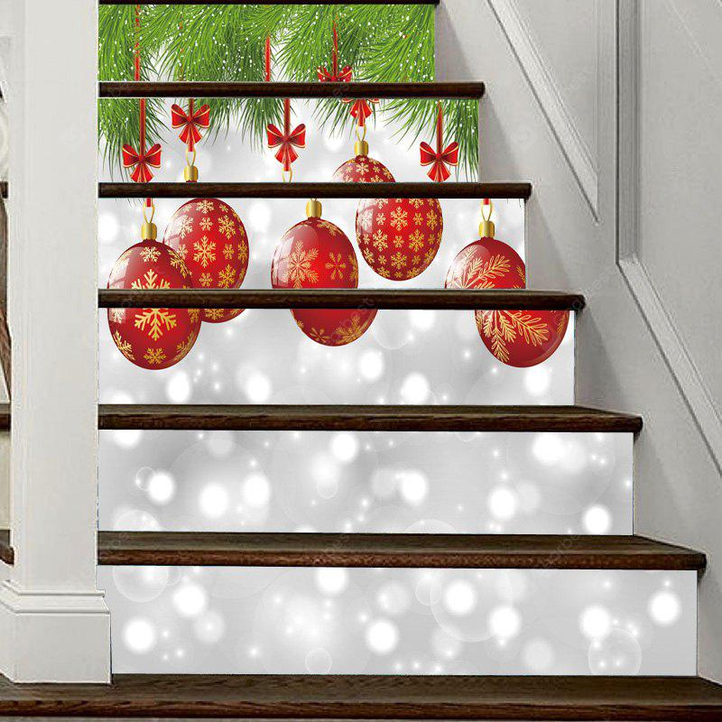 Christmas Lantern Pattern Decorative Stair Decal 6PCS