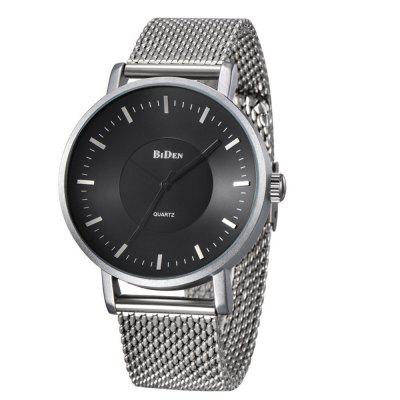 BIDEN 0056-1 4816 Moda Steel Mesh Band Men Watch with Box
