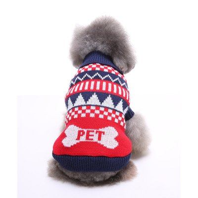 Bone Pattern Dog Sweater Christmas CostumesDog Clothing &amp; Shoes<br>Bone Pattern Dog Sweater Christmas Costumes<br><br>For: Dogs<br>Material: Polyester<br>Package Contents: 1 x Dog Sweater<br>Package size (L x W x H): 8.00 x 5.00 x 5.00 cm / 3.15 x 1.97 x 1.97 inches<br>Package weight: 0.1000 kg<br>Product size (L x W x H): 32.00 x 42.00 x 0.50 cm / 12.6 x 16.54 x 0.2 inches<br>Product weight: 0.0900 kg<br>Season: Autumn, Winter<br>Type: Others