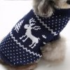 Elk Pattern Dog Sweater Christmas Costumes - BLUE