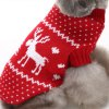 Elk Pattern Dog Sweater Christmas Costumes - RED