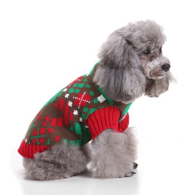 Lattice Pattern Dog Sweater Christmas CostumesDog Clothing &amp; Shoes<br>Lattice Pattern Dog Sweater Christmas Costumes<br><br>For: Dogs<br>Material: Polyester<br>Package Contents: 1 x  Dog Sweater<br>Package size (L x W x H): 10.00 x 5.00 x 5.00 cm / 3.94 x 1.97 x 1.97 inches<br>Package weight: 0.1000 kg<br>Product size (L x W x H): 34.00 x 42.00 x 0.50 cm / 13.39 x 16.54 x 0.2 inches<br>Product weight: 0.0900 kg<br>Season: Autumn, Winter<br>Type: Others