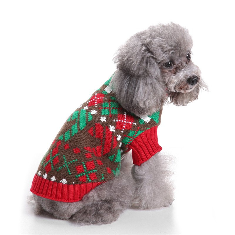 Lattice Pattern Dog Sweater Christmas Costumes