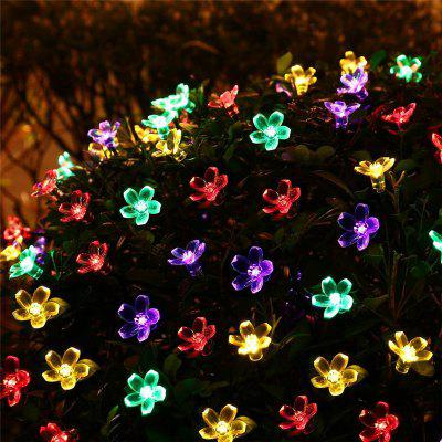 50 led beads flowers colored solar christmas light string