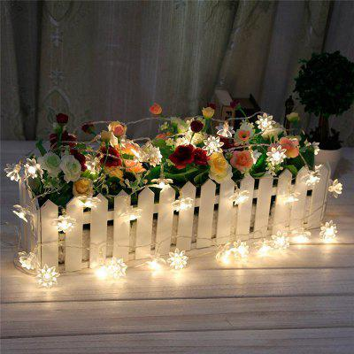 50 LED Beads Flores Coloridas Solar Light Light