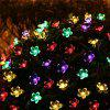 50 LED Beads Flowers Colored Solar Christmas Light String - COLORIDO
